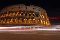 Notte Colosseum Fotografia Stock