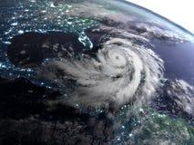 Notte con l'uragano Immagini Stock Libere da Diritti