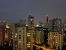 Notte Costantinopoli Fotografie Stock Libere da Diritti
