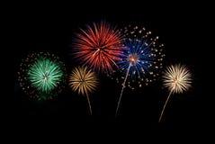 Notte dei fuochi d'artificio Fotografia Stock