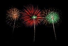 Notte dei fuochi d'artificio Immagine Stock