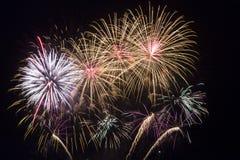 Notte dei fuochi d'artificio Immagine Stock Libera da Diritti