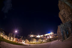 Notte del castello (4 stagione Kars) fotografie stock
