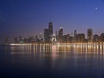 Notte del Chicago Fotografia Stock Libera da Diritti