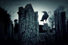 Notte del cimitero Immagine Stock