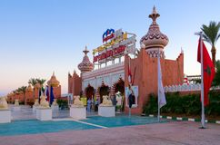 Notte 1001 del complesso di spettacolo e di acquisto Alf Leila Wa Leila, Sharm el-Sheikh, Egitto fotografia stock libera da diritti