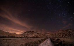 Notte del deserto fotografia stock libera da diritti