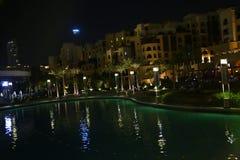 Notte del Dubai Fotografie Stock Libere da Diritti