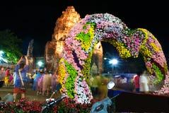 Notte del fiore del giglio in Tailandia Fotografia Stock Libera da Diritti