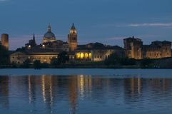 Notte del mantua Lombardia Italia Europa Fotografia Stock