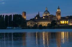 Notte del mantua Lombardia Italia Europa Immagini Stock Libere da Diritti