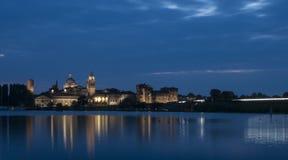 Notte del mantua Lombardia Italia Europa Immagine Stock Libera da Diritti