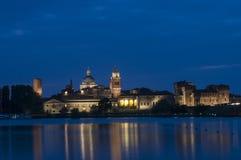 Notte del mantua Lombardia Italia Europa Fotografie Stock Libere da Diritti