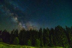 Notte del paesaggio Fotografia Stock