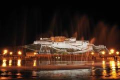 Notte del palazzo di Potala Immagini Stock
