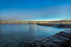 Notte del pilastro al parco della riserva della testa di bradley, Sydney Australia Fotografia Stock