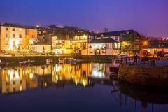 Notte del porto di Falmouth Fotografia Stock