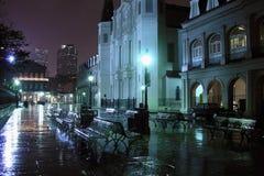 Notte del quartiere francese Immagine Stock