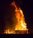 Notte del san Anastasi Demone bruciante Immagine Stock