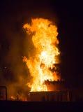 Notte del san Anastasi Demone bruciante Fotografia Stock