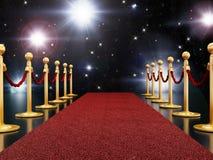 Notte del tappeto rosso Fotografie Stock Libere da Diritti