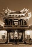 Notte del tempiale tradizionale cinese Fotografia Stock