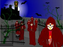 Notte del vampiro Fotografia Stock