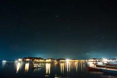 Notte dell'isola di Mabul Immagine Stock