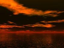 Notte dell'oceano illustrazione di stock