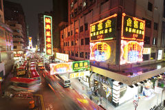 Notte della città di Hong Kong Fotografie Stock