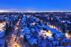 Notte della città di inverno Fotografia Stock Libera da Diritti