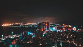 Notte della città immagini stock