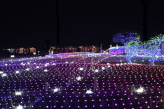 Notte della Corea di festival di illuminazione della luce di Illumia immagini stock