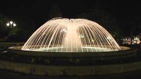 Notte della fontana stock footage