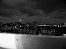 Notte della luna piena Immagine Stock
