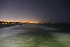 Notte della spiaggia di Venezia Fotografie Stock Libere da Diritti