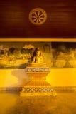 Notte della statua di Buddha in Doi Suthep, Chiang Mai, Tailandia Fotografia Stock Libera da Diritti