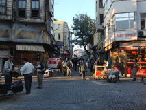 Notte della Turchia Costantinopoli Fotografie Stock
