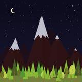 Notte delle montagne Fotografie Stock Libere da Diritti