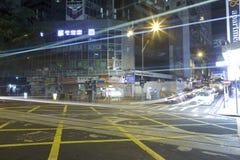 Notte delle strade trasversali Immagine Stock Libera da Diritti