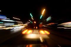 Notte delle vie fotografie stock