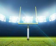 Notte dello stadio di football americano Immagine Stock Libera da Diritti