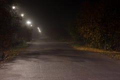 Notte di autunno nel villaggio del ukrainain Fotografia Stock