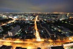Notte di Bangkok, Bangkok Tailandia Fotografia Stock