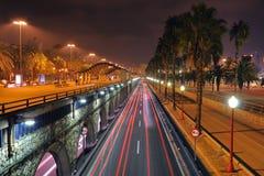Notte di Barcellona Fotografia Stock