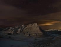 Notte di Bardenas Immagine Stock