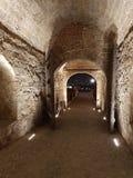 Notte di Belgrado Serbia della fortezza di Kalemegdan immagini stock libere da diritti
