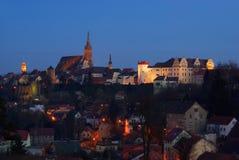 Notte di Bolzano Fotografia Stock Libera da Diritti