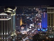 Notte di boulevard del fenicottero Fotografia Stock Libera da Diritti
