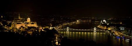 Notte di Budapest Immagine Stock Libera da Diritti